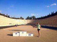 Vítání ducha olympijských her na Panathénském stadionu